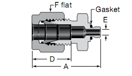 Swagelok 10-32 Thread Male Connectors Substitute