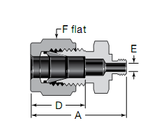 Swagelok M5 X 0.8 Thread Male Connectors Substitute