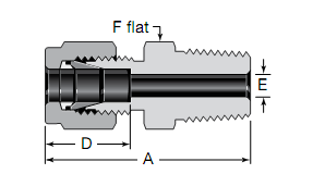 Swagelok Male Connectors Substitute